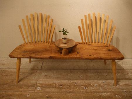木の椅子 木のベンチ 背もたれ 店舗