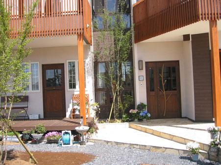 木製 玄関ドア 親子ドア