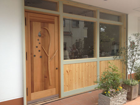 木製 玄関ドア 店舗用ドア