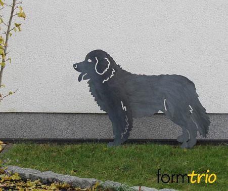 Berner Sennenhund aus Stahl...noch ungerostet!