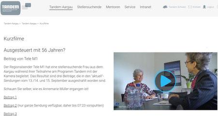 Ausgesteuert mit 56 Jahren? Reportage von Tele M1