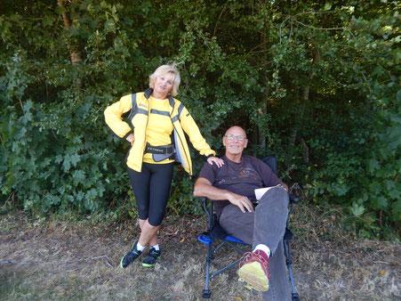 Pause auch für zwei Topsportler: Erika und Günther Fändrich.