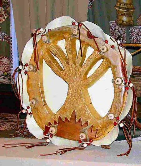 a one-of-a-kind lightning drum from Shaman Drums And More