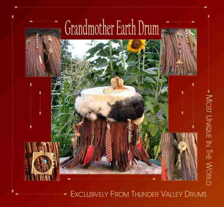 Grandmother Earth Drum, made by Shaman Drums And More