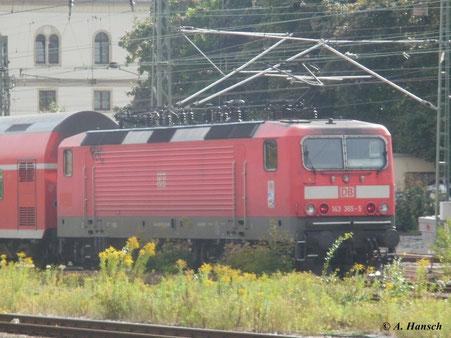 143 365-5 verlässt Chemnitz Hbf. am 12. August 2011 in Richtung Zwickau
