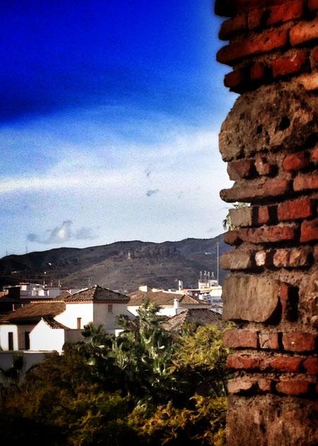 Desde las murallas de la Alcazaba.