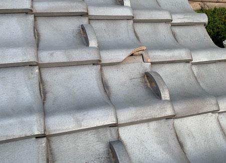 瓦屋根の写真です。