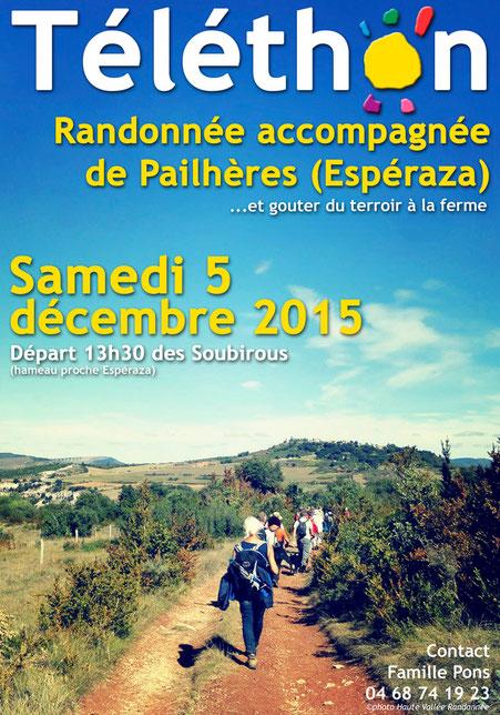 Rando Téléthon de Pailhères 2015