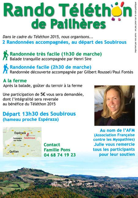 Programme rando Téléthon de Pailhères