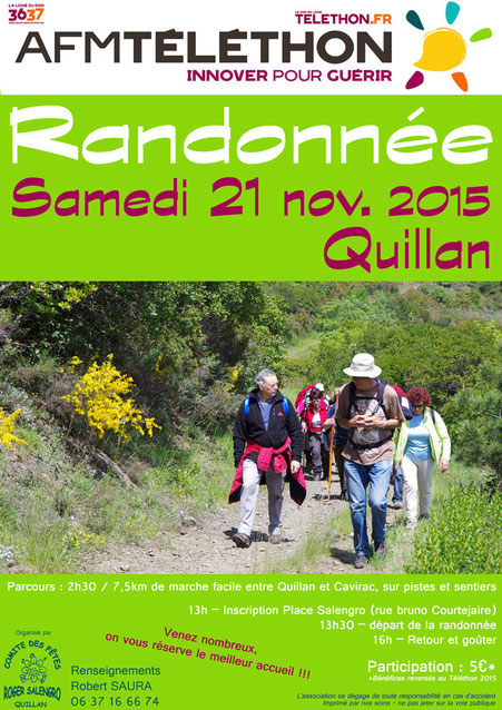 Rando Téléthon 2015 - Quillan