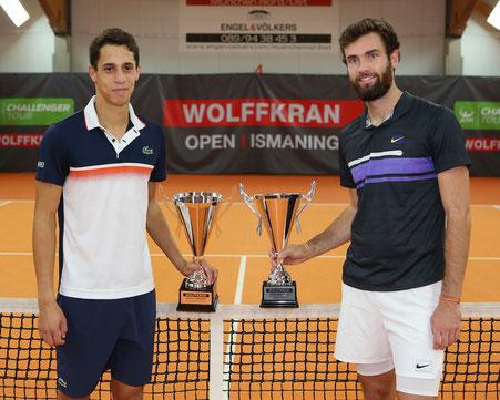 Tristan Lamasine (l) / Quentin Halys - Sieger Doppel Wolffkran Open 2019 - (c) Jürgen Hasenkopf