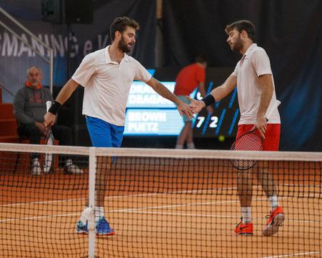 Marin Draganja (l) / Tomislav Draganja - Sieger Doppel Wolffkran Open 2017 - (c) Jürgen Hasenkopf