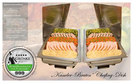 Kasseler-Braten Chafing-Dish