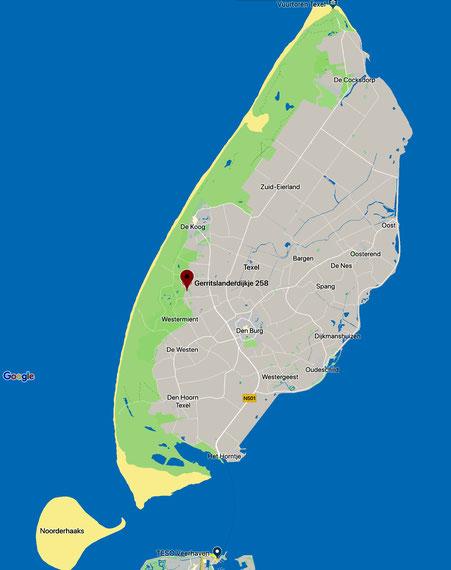 """<img src=""""image.png""""alt=""""Kaart van Texel met GROENOORD, de parelwitte parel van De Parel, bungalow 258, Bungalowpark De Parel. Texel"""">"""