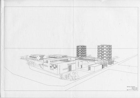 Diseño de la residencia. Dossier de 1964.