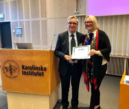 Il Professore Carmina riceve il premio della Futterweit Foundation a Stoccolma il 25.9.2018