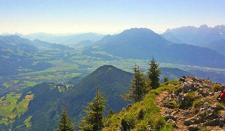 Brünnstein mit Blick auf Oberaudorf