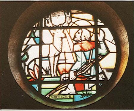 Motiv-Fenster der Herz-Jesu Kirche Wickrathhahn
