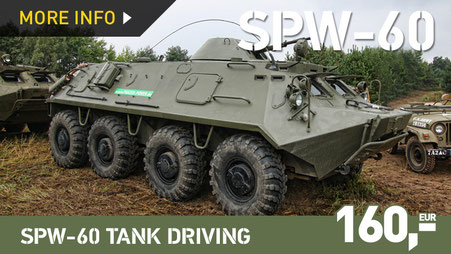 SPW-60 / BTR-60 ARMOURED TRANSPORTER TANK DRIVING