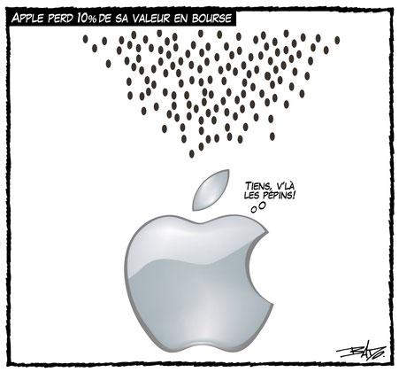 Apple perd 10% de sa valeur en bourse