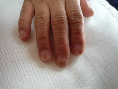 ネイルケア講座受講生の方の爪
