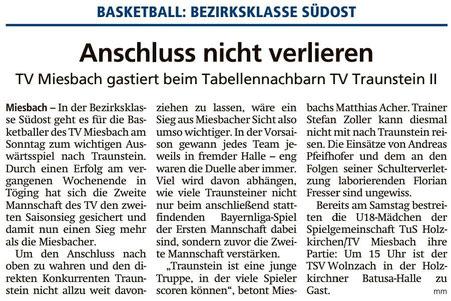 Artikel im Miesbacher Merkur am 1.12.2018 - Zum Vergrößern klicken