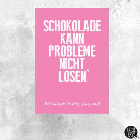 "FUNI SMART ART, Postkarte, Motiv ""Schokoapfel."""