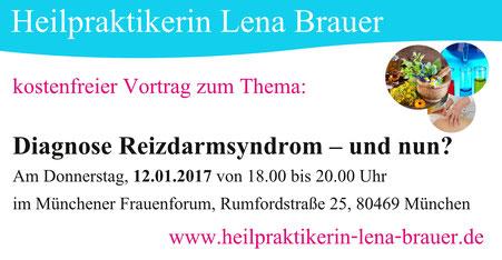 Reizdarmsyndrom Vortrag München NaturheilkundeHeilpraktikerin Lena Brauer
