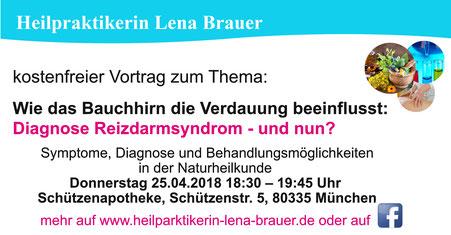 Vortrag Reizdarm Bauchhirn Naturheilkunde Therapie  München Heilpraktikerin Lena Brauer