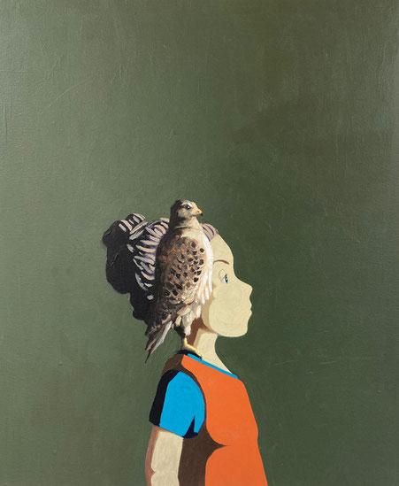 buzzard - Acryl auf Leinwand, 60x50cm, 2021 | verkauft