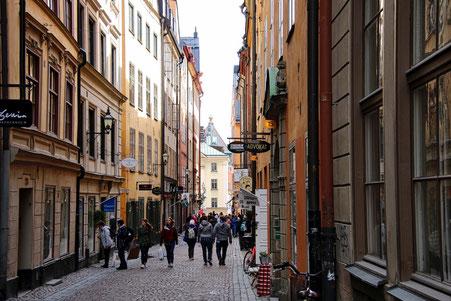Immer viel los: Die Altstadt von Stockholm