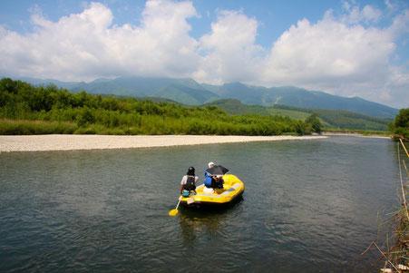 北海道 富良野川下り