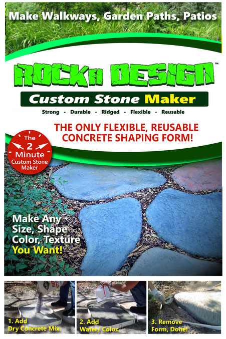 flexible, stepping stone form for concrete