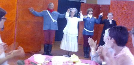 La troupe de théâtre Les Ricochets de Decize au Salon du Livre de la Nouvelle et des formes courtes 2017