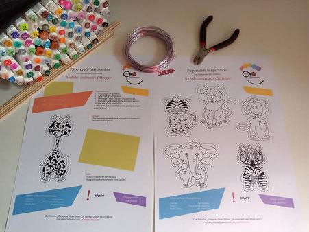 DIY gratuit mobile papercut sur le thème des animaux d'Afrique réalisé par Cloé Perrotin