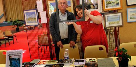 Stand de l'éditeur le Réalgar au Salon Litter'Halles 2017 avec l'illustratrice Cloé Perrotin