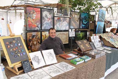 L'artiste Matthieu Coudray aux Lithaniennes 2017 à Varzy dans la Nièvre