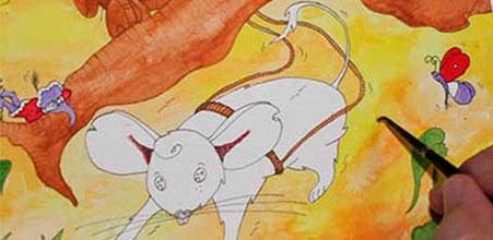 WIP du tome 3 des aventures de Zip le lutin réalisée par l'illustratrice Cloé Perrotin