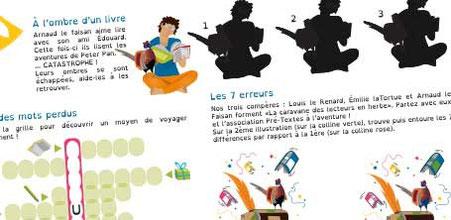 Visuel d'exemples de jeux illustrés réalisés par la graphiste Cloé Perrotin