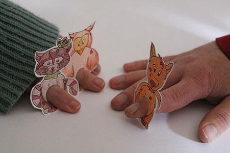 DIY Papertoys de marionnettes de doigts d'animaux réalisé par Cloé Perrotin pour vous