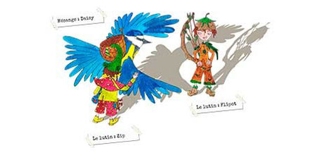 """Réalisation d'une fresque tirée du livre """"Zip le lutin"""" par les enfants d'une classe de maternelle du Trinitaire à Avignon en 2014"""
