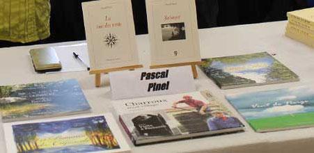Livres de Pascal Pinel à la Caravane Littéraire de Dompierre-sur-Besbre en 2016