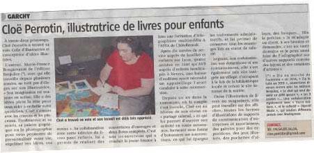 Article de presse de l'Écho Charitois en 2014, sur le site de Cloé Perrotin de l'entreprise Illustr'&Vous