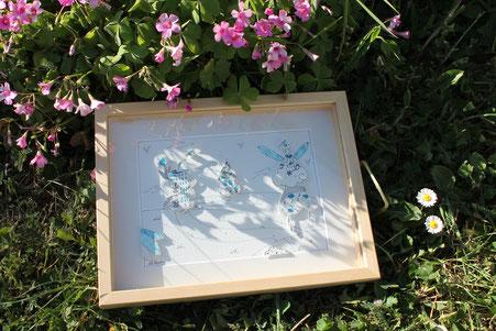 Illustration en papiers découpés en relief façon théâtre réalisée d'après le tutoriel de l'illustratrice Cloé Perrotin