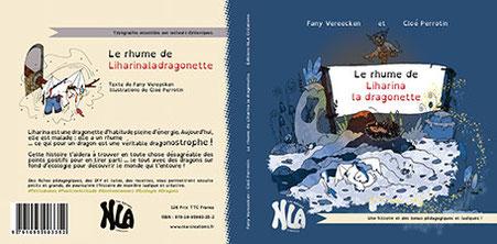 Aperçu des couvertures 1 et 4 de l'album Le rhume de Liharina la dragonette