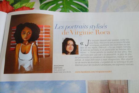Extrait d'une revue de presse sur l'artiste Virginie Roca