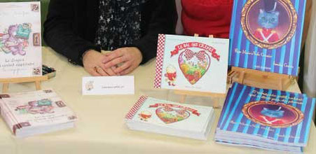 """Livres de l'illustratrice Sandra Garcia au Salon du Livre """"Les Mar'Mots en Val de Saône"""" en 2016 à Garnerans"""