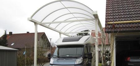 Wohnmobilcarport aus Metall (Aluminium) - Typ N Bogendachcarport