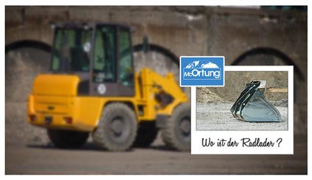 Baumaschinen-Ortung für Radlader, Bagger, Kettenfahrzeuge usw.
