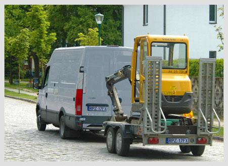 Baumaschinen Ortung für Radlader, Kettenfahrzeuge, Bagger, Minibagger, Raupen, Aggregate